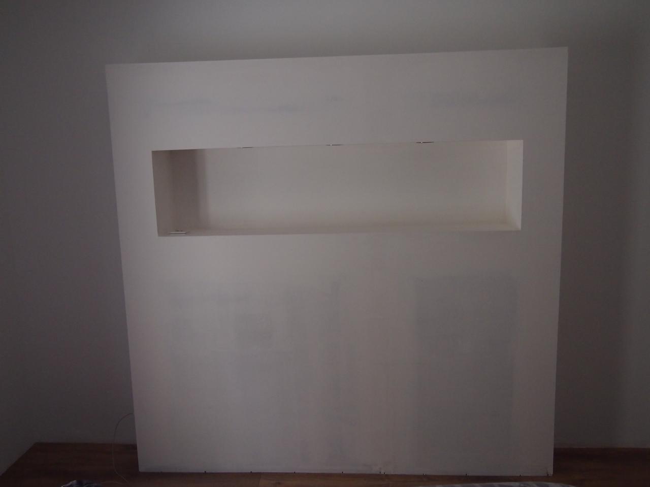 B ton cir murs de cuisine salon et t te de lit - Mur beton cire salon ...